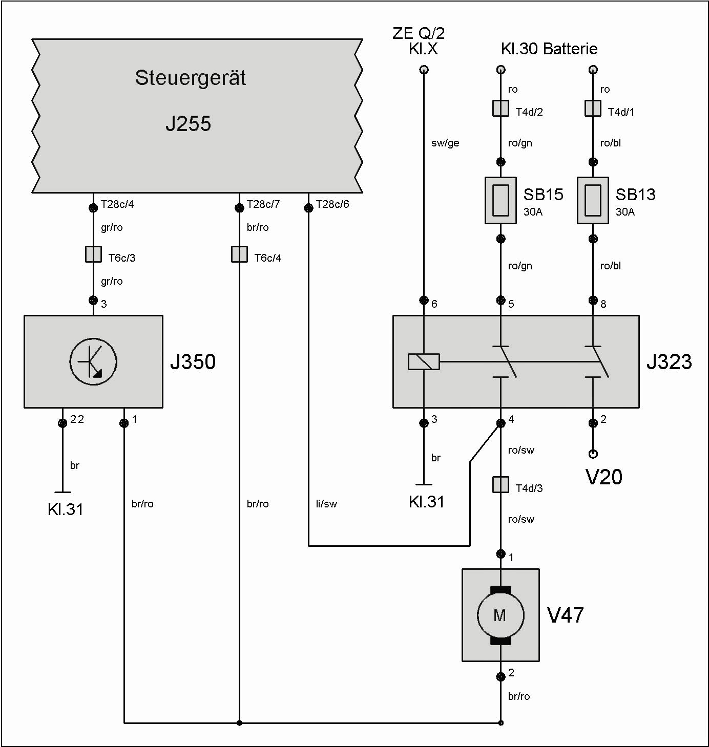 Schaltplan Climatronic T4