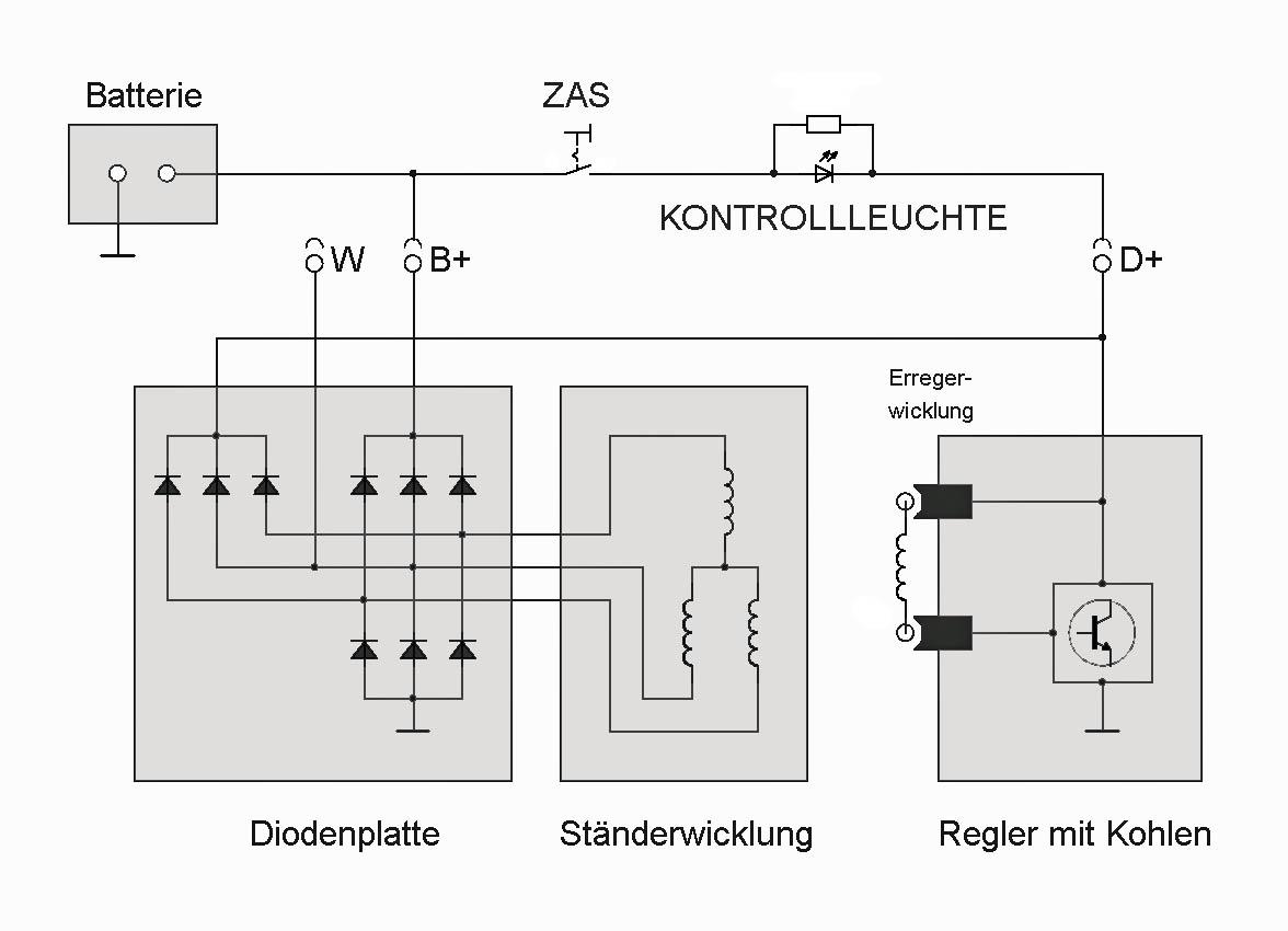 lichtmaschine anschluss w