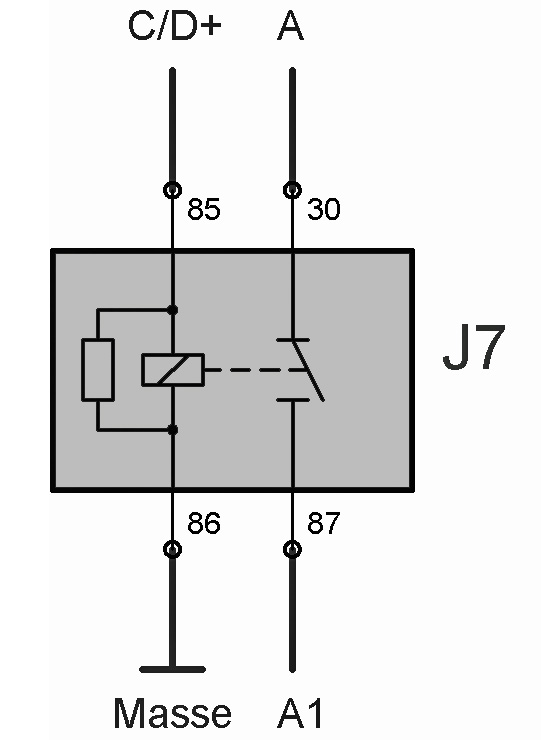 Relais J7 (Batterie-Trennrelais) – T4-Wiki