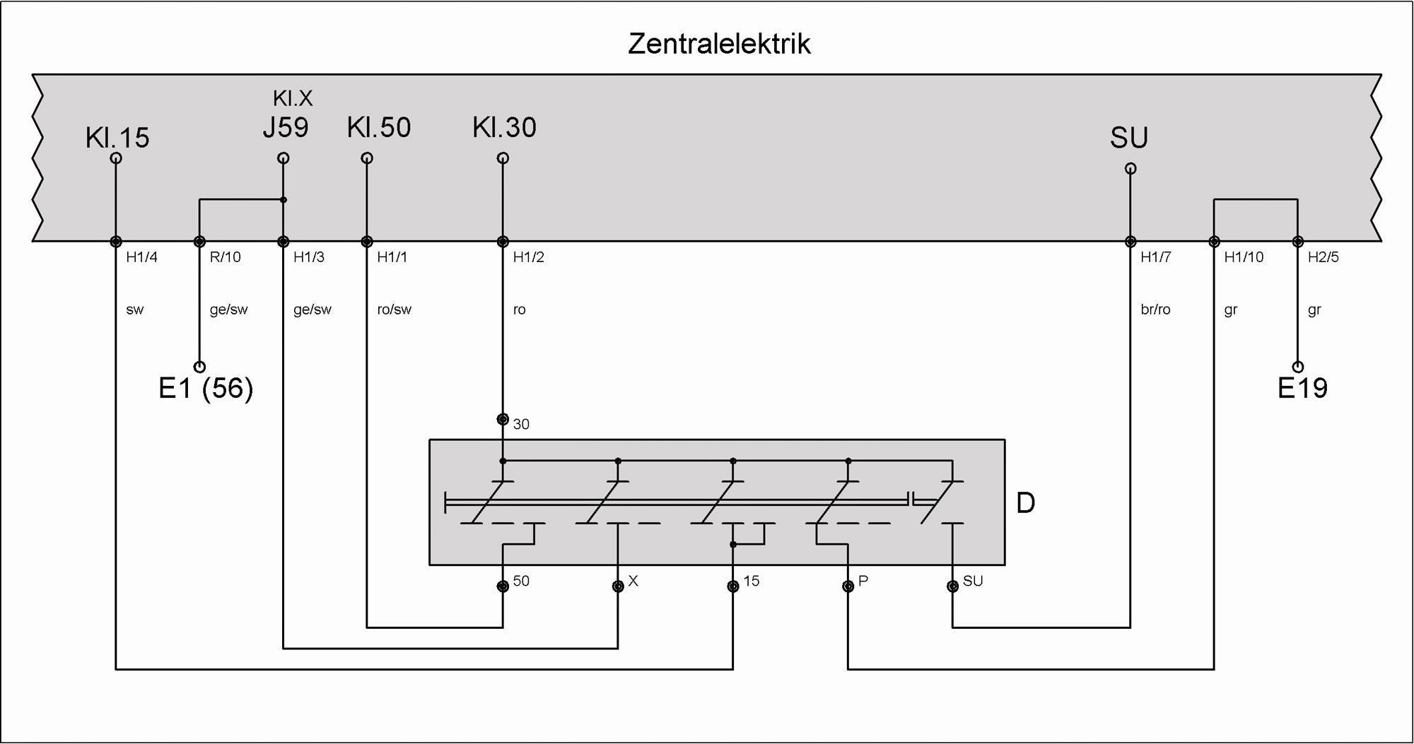 Schalter D (Zündanlassschalter) – T4-Wiki